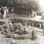 Excavation of Mgarr Roman Baths with Sir Temi Zammit looking on, 1930